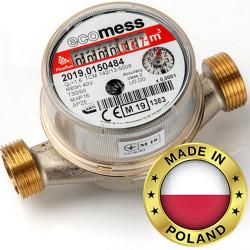 Счетчик горячей воды Ду 15 Ecomess Picoflux (без штуцеров)
