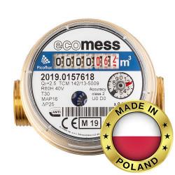 Счетчик холодной воды Ду 15 Ecomess Picoflux короткий L=80 мм (без штуцеров)