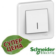 LNA1400321 Выключатель одноклавишный с подсветкой Schneider Leona Белый