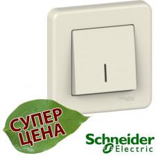 LNA1400323 Выключатель одноклавишный с подсветкой Schneider Leona Крем