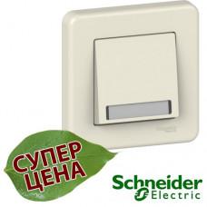 LNA1601523 кнопка с полем для надписи Schneider Leona Крем