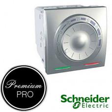 Терморегулятор для теплого пола Schneider Unica (Алюминий) MGU3.503.30 с датчиком пола