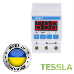Реле защиты от скачков напряжения TESSLA 3П 25А D25