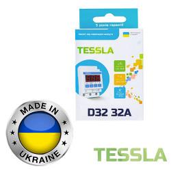 Реле защиты от скачков напряжения TESSLA 3П 32А D32