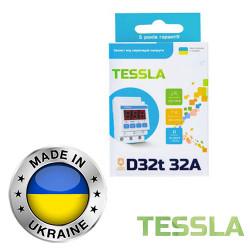 Реле напряжения с термозащитой TESSLA 3П 32А D32t