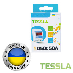 Реле напряжения с термозащитой TESSLA 3П 50А D50t