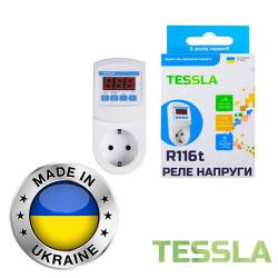 Реле напряжения с термозащитой TESSLA 16А R116t