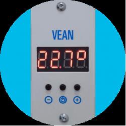 Электрообогреватель VEAN VA 500P White 10-14м2 с программатором