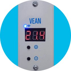 Электрообогреватель VEAN VA 300WF Black до 10м2 с программатором и Wi-Fi