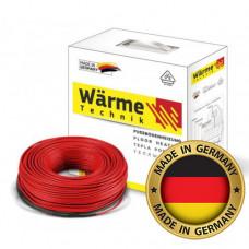 Тонкий двужильный нагревательный кабель Wärme Twin Flex Cable 375W 2,0-2,5 м2